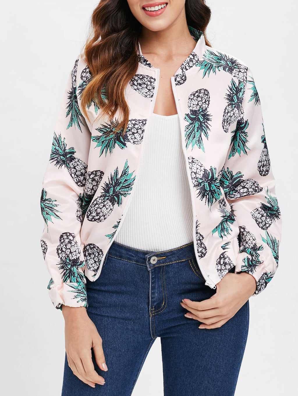 Pineapple Print Jacket LIGHT PINK