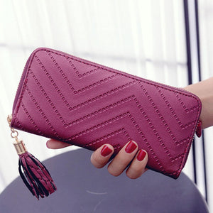 Leather Wallet Clutch Handbag