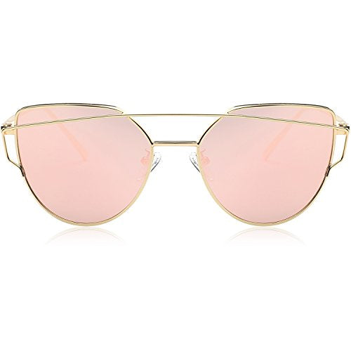 Gold Framed Cat Eye Sunglasses