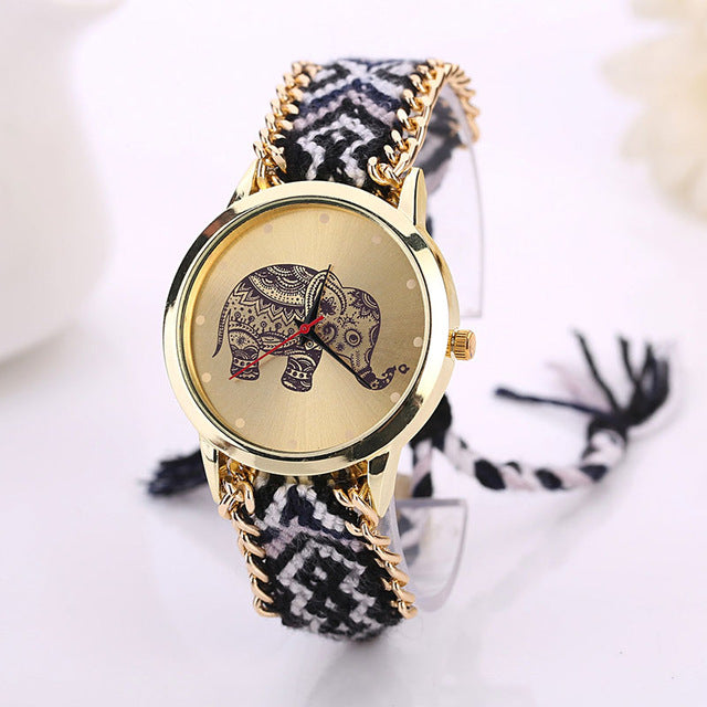 Boho Woven Elephant Watches 5