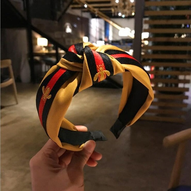 yellow pink hairband