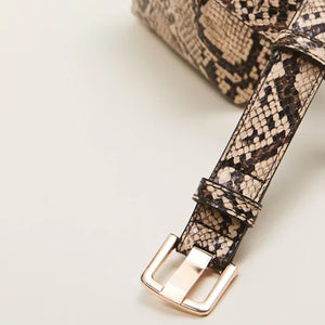 Serpentine Alligator Belted Waist Pack