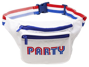 Red, White & Blue Party Fanny Pack