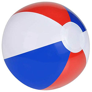 Red, White & Blue Beach Ball - Pack of 12