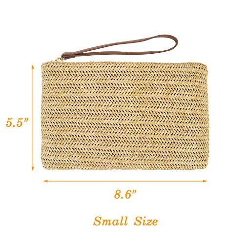 Beachy Straw Wristlet