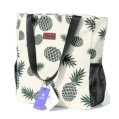 Pineapple Water Resistant Beach Tote