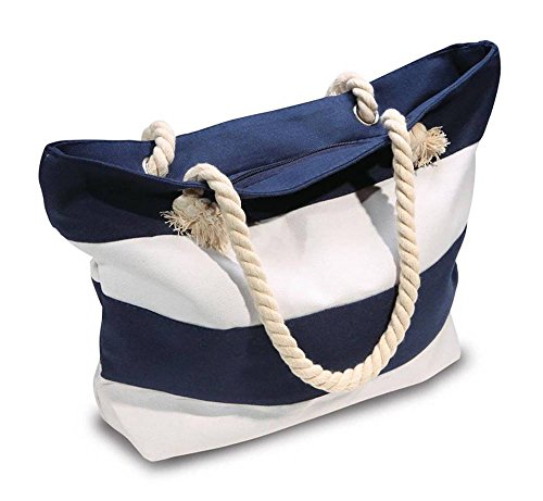Beach Tote with Rope Handles