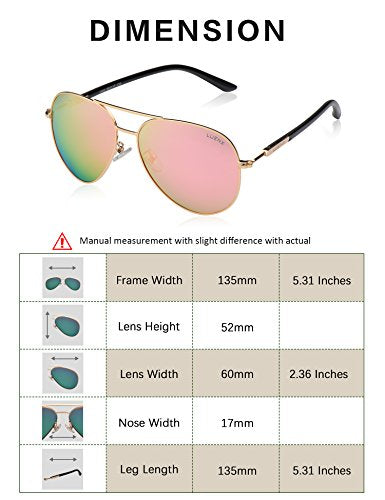 Pink Mirror Aviator  Sunglasses