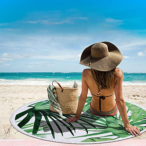Round Palm Leaf Beach Towel