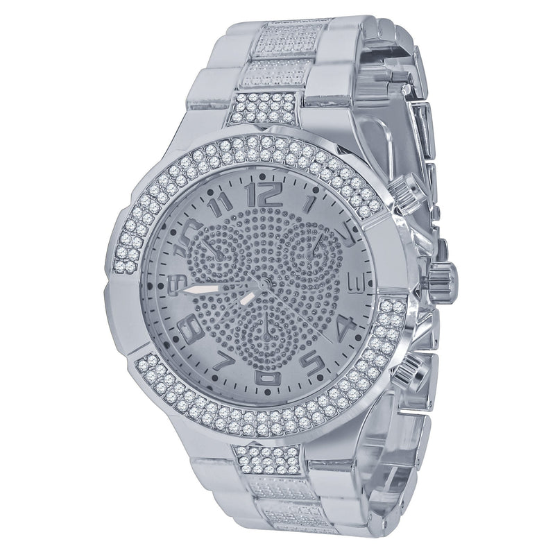 Solitude Ice Silver Face Watch