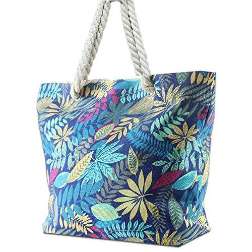 Blue Maple Beach Tote
