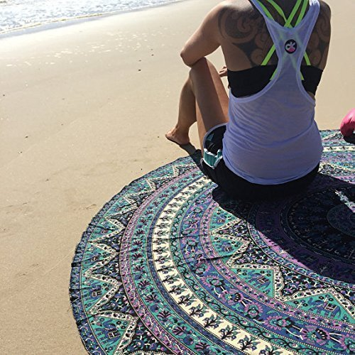 Round Mandala Beach Towel
