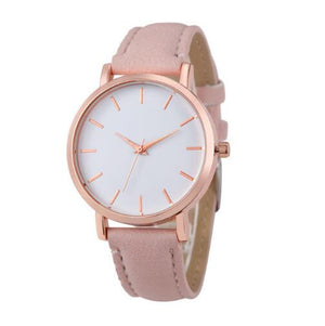Classic Leather Quartz Watch Pink