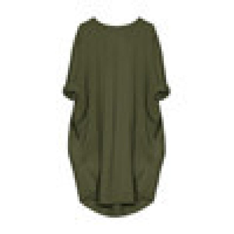 Oversized Cotton Boho Dress Army Green