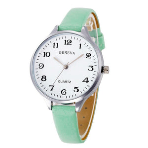 Faux Leather Bracelet Watch