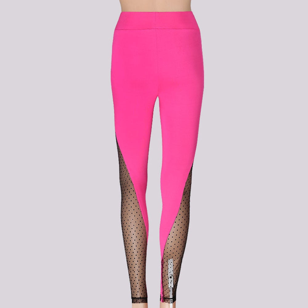 Mesh Cut Out Yoga Leggings