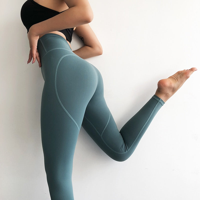 Heart Shaped High Waist Yoga Leggings Grey