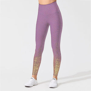 Glitter High Waist Yoga Leggings