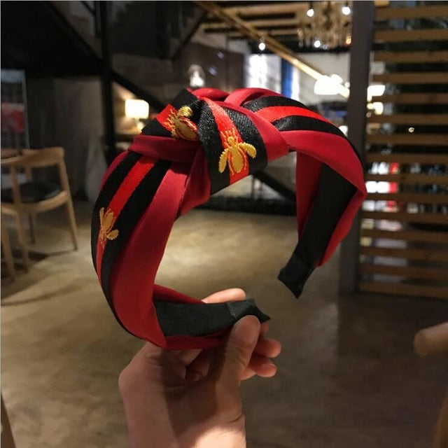 red wine hairband