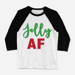 Jolly AF Baseball T-Shirt Black & White