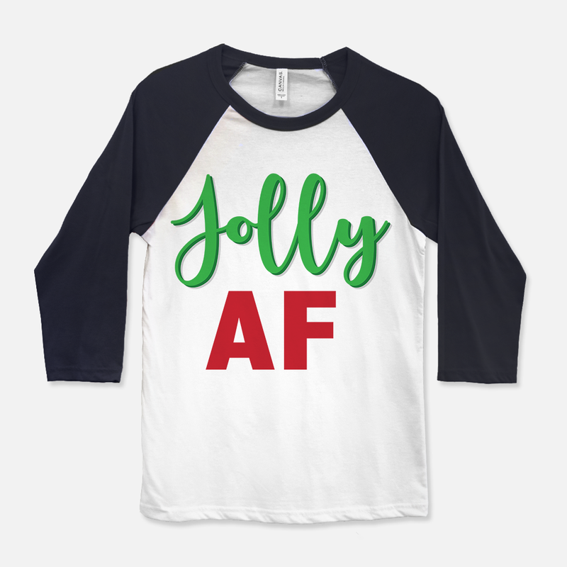 Jolly AF Baseball T-Shirt Navy & White