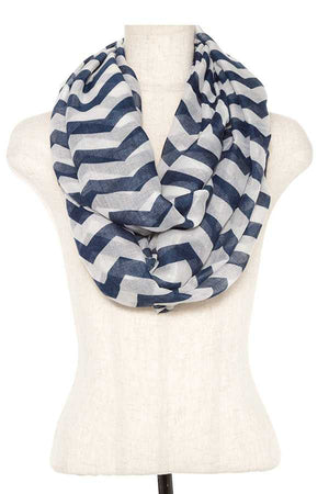 Striped Infinity Scarf Emerald