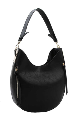 Fashion Chic Trendy Hobo Bag With Long Strap Black