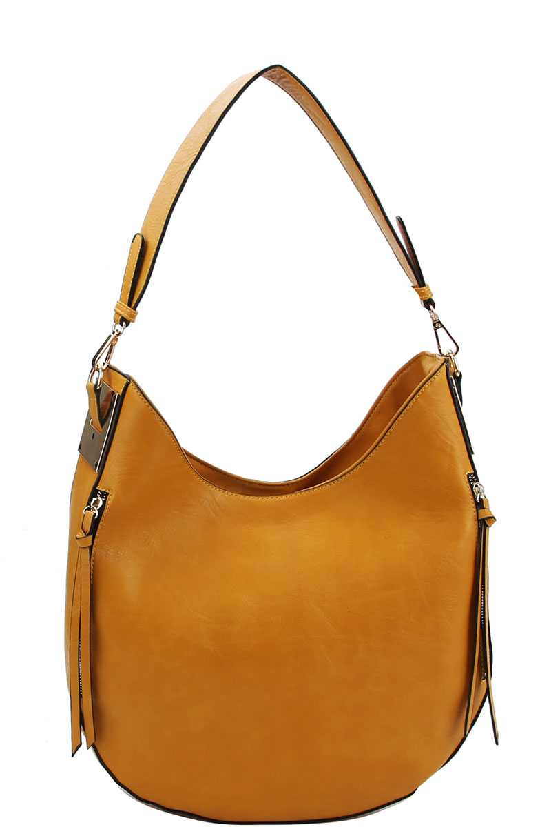 Fashion Chic Trendy Hobo Bag With Long Strap Mustard