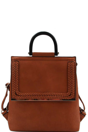 Stylish Modern Trendy Changing Backpack Brown