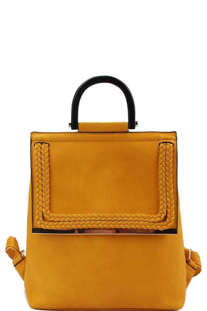 Stylish Modern Trendy Changing Backpack Mustard