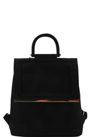 Stylish Modern Trendy Changing Backpack Black