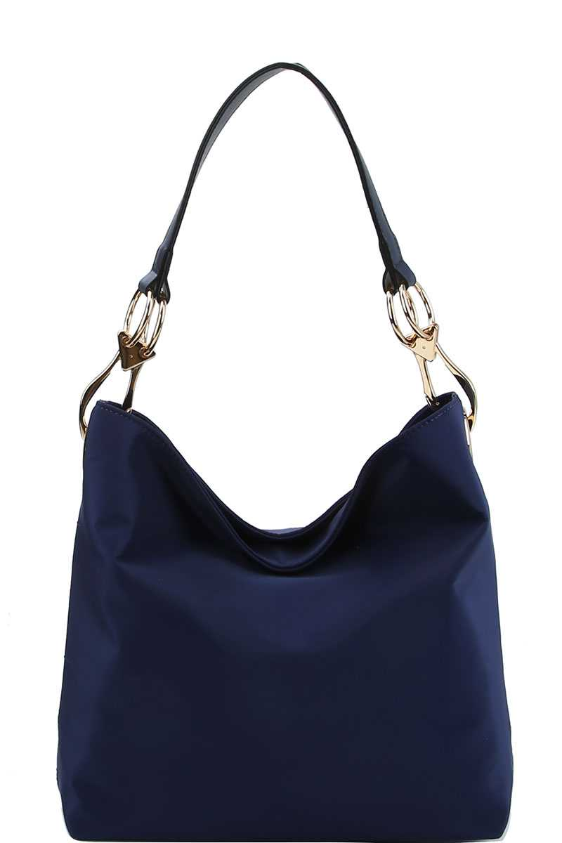 Chic Fashion Durable Canvas Fabric Hobo Bag Blue