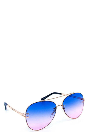Chic Stylish Aviator Color Sunglasses Red