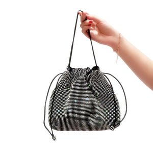 Rhinestone-Studded Evening Handbag