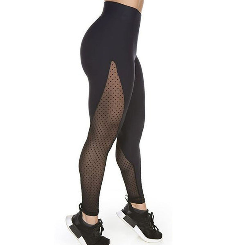 Mesh Cut Out Yoga Leggings Rose Red
