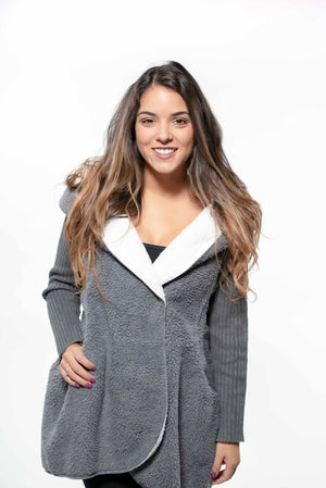 Cozy Hooded Cashmere Wool Cardigan