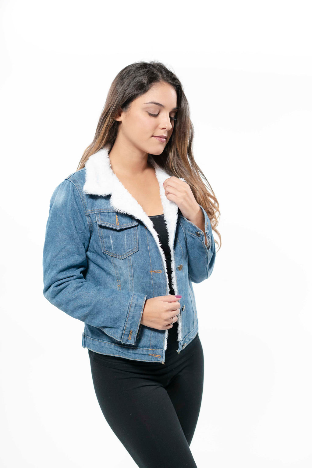 Lambswool Lined Thick Denim Jacket