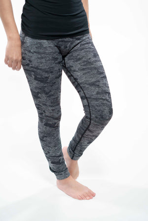 Camo Print High Waist Leggings Black