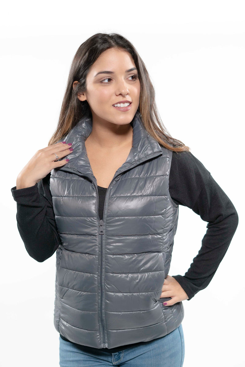 Blue Quilted Puffer Vest S