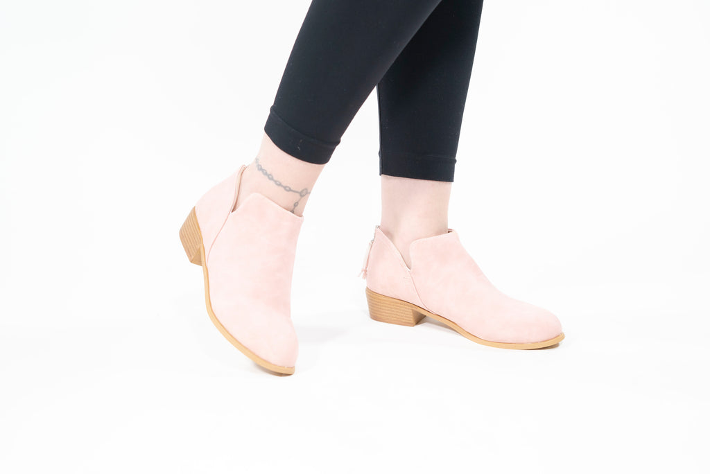 Slip On Ankle Boots Beige