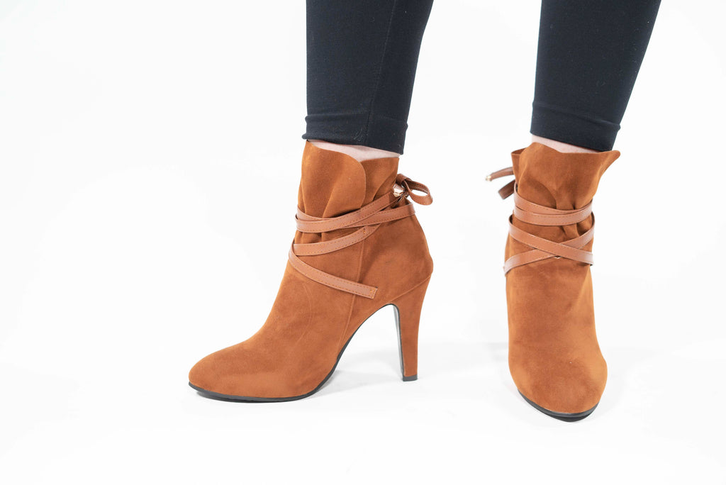 Handmade Cross-tied Lace-up Ankle Boots