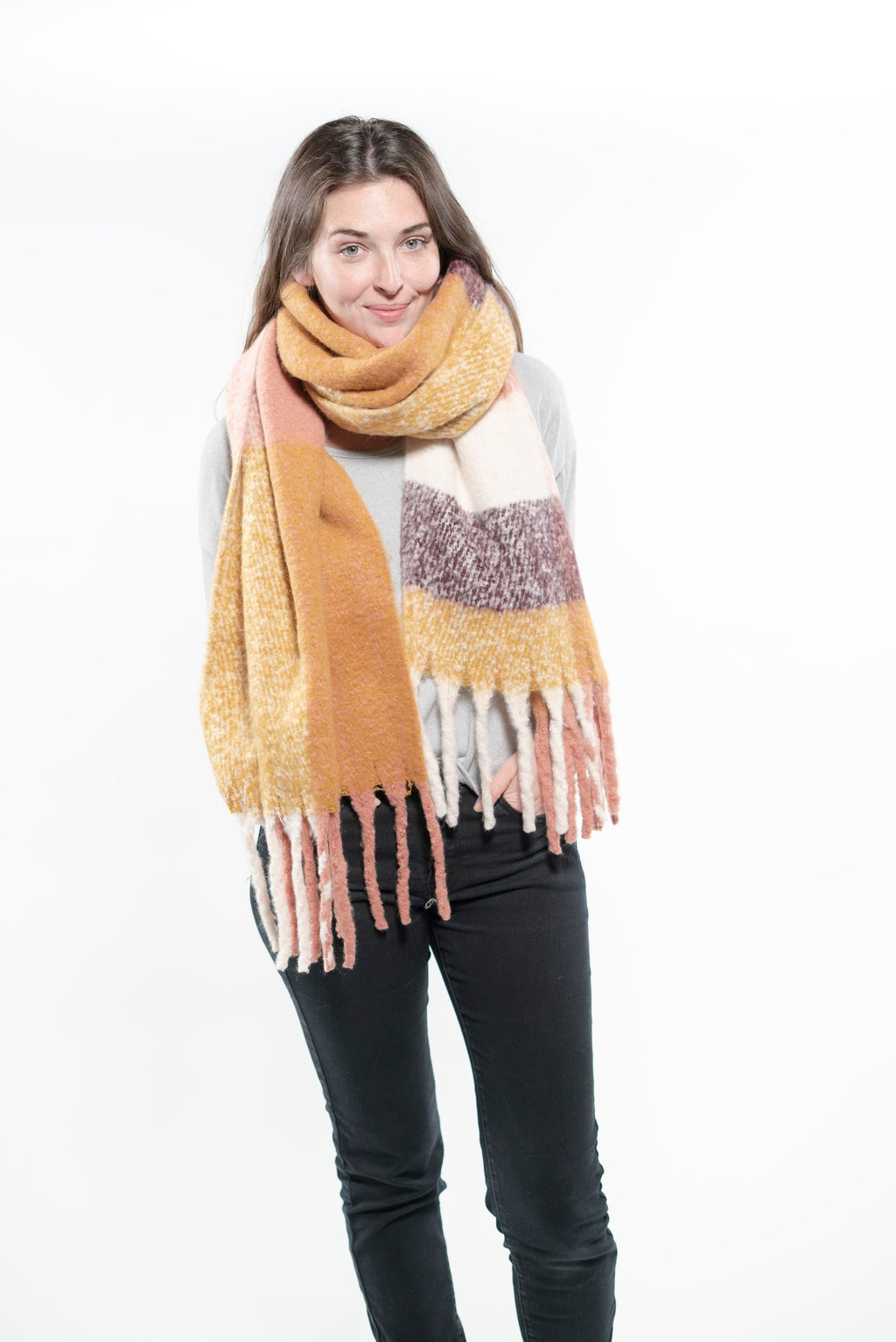 Fall Fashion Scarf Shawl Beige