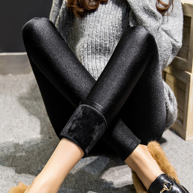 Cozy Velvety Sheen Leggings