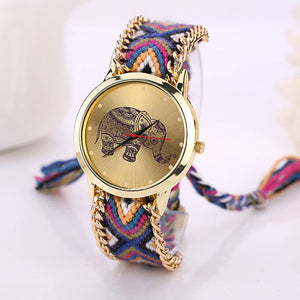 Boho Woven Elephant Watches 3