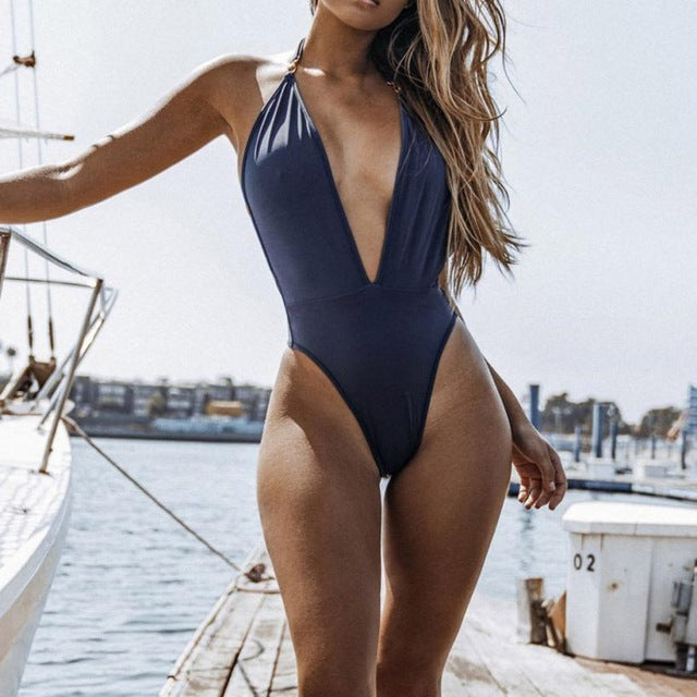 Meadow One Piece Swimsuit Blue
