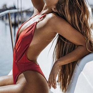 Meadow One Piece Swimsuit Red