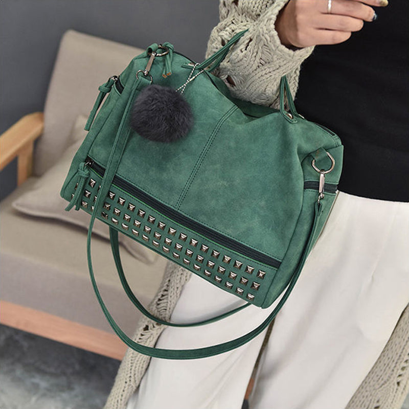 Versatile Leather Shoulder Bag
