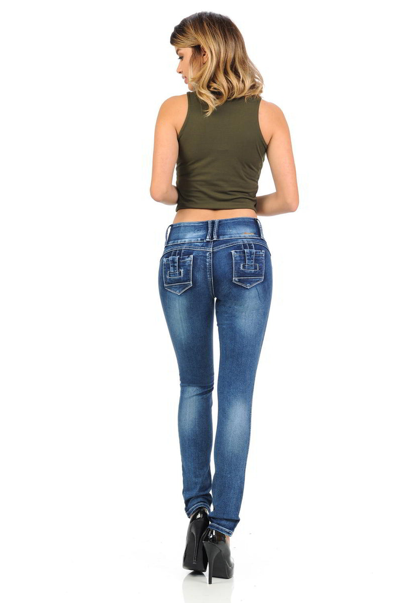 Blue Skinny Jeans Push-Up