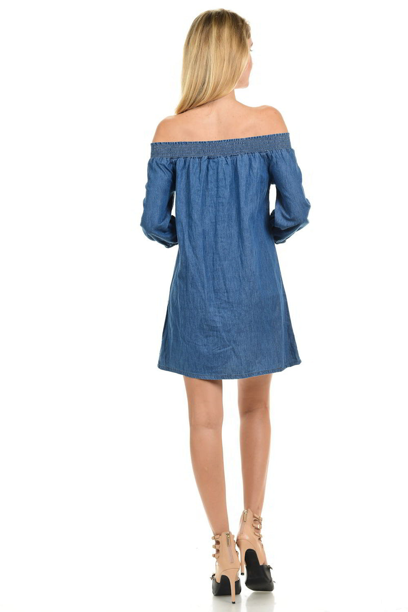 Sweet Look Denim Dress
