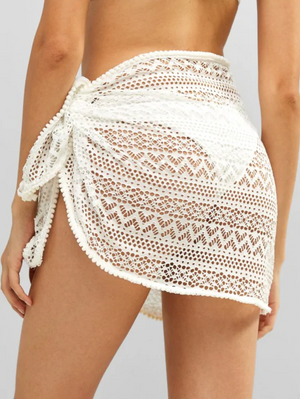 Bobble Trim Lace Sarong
